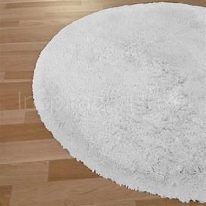 Tapis Blanc Rond : tapis rond sur mesure blanc longues m ches moelleux ~ Dallasstarsshop.com Idées de Décoration