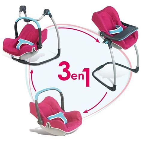 chaise haute bébé 3 en 1 smoby chaise haute cosy 3 en 1 bébé confort achat vente accessoire poupon cdiscount