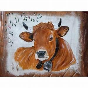 Tete De Vache Deco : tableau peinture vache deco scandinave chalet achat vente tableau toile cdiscount ~ Melissatoandfro.com Idées de Décoration