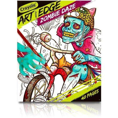 crayola art  edge coloring book bundle zombie daze