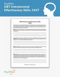 Dbt Interpersonal Effectiveness Skills  Fast Worksheet