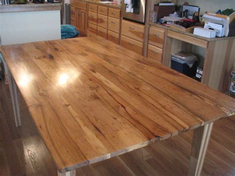 hickory wood   table top beautiful build    wood table wood furniture
