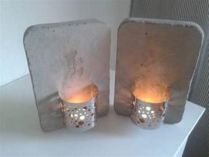 Basteln Mit Zement : kerzenhalter rustikaler beton und edelstahl beton pinterest ~ Frokenaadalensverden.com Haus und Dekorationen