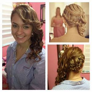 Braided side swept curls | Hair styles | Pinterest | Curls ...