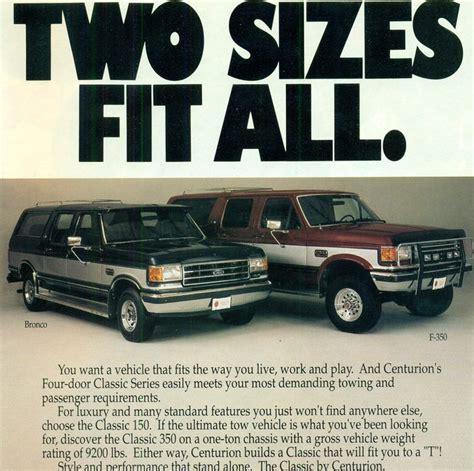 Truck Rewind The Centurion Classic Door Ford Bronco