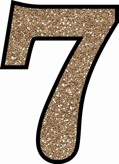 Numbers Number Printable Glitter Letras Transparent Numeros