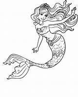 Mermaid sketch template
