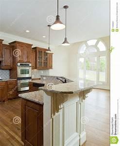 Model Luxury Home Interior Kitchen Counter Stock Image ...
