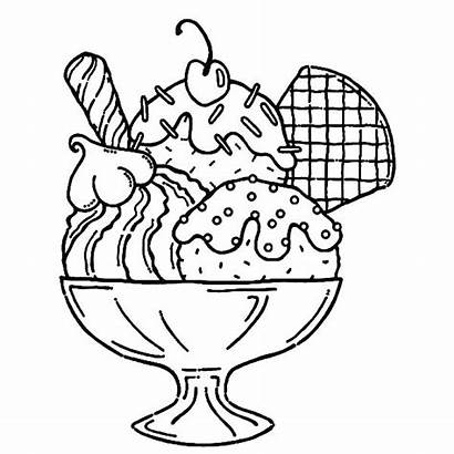 Coloring Waffle Ice Cream Sundae Pages Printable