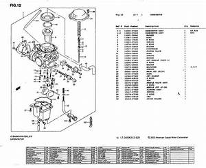 Diagram Of Carburetor For 2005 Suzuki 400 4 Wheeler