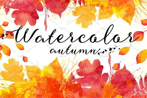 Autumn Wallpapers Watercolor by 15 Watercolor Autumn Backgrounds Textures Creative Market