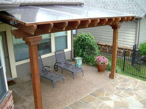 solid roof pergola patio cover  panels solid roof