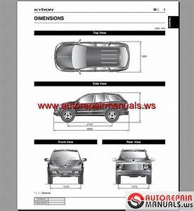 Ssangyong Kyron Service Manuals And Electric Wiring