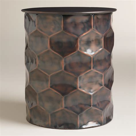 metal drum accent table metal rani drum accent table world market