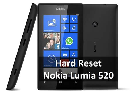 reset nokia lumia 520 best thing you can do