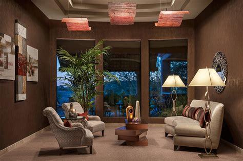 North Scottsdale Living Room Design-dramatic Ceilings
