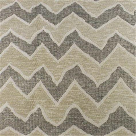 Zig Zag Upholstery Fabric by Ivory Grey Zig Zag Woven Upholstery Fabric Fabric By The