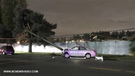Car Crash Hit Power Pole On Kingsway Ave October 31 2014