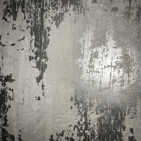Graham & Brown Wallpaper  Industrial Texture Silver