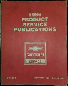 1986 Chevrolet Service And Product Bulletins Book Manual