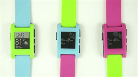 pebble smartwatch now comes with a splash of pastel color