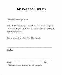 release of liability form template business With waiver of responsibility template