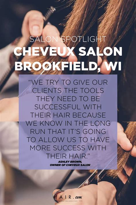 At a very early age Ashley Brown, owner of Cheveux Salon ...