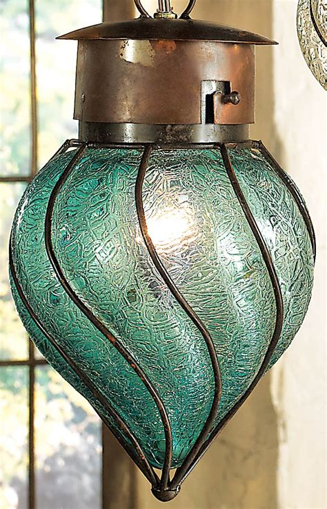southwest glass pendant light medium