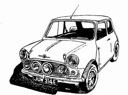 Classic Cooper Drawing Drawings Cars Side Copper