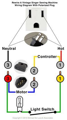how to rewire a l with a rotary switch singer 401 type hook sewing machine parts diagram crafts