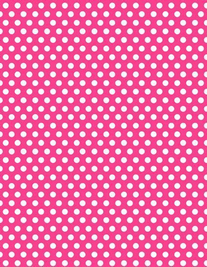 instant download minnie mouse hot pink polka dot
