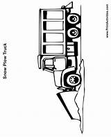 Plow Snow Coloring Truck Snowplow Drawing Pages Templates Template Clipartmag sketch template