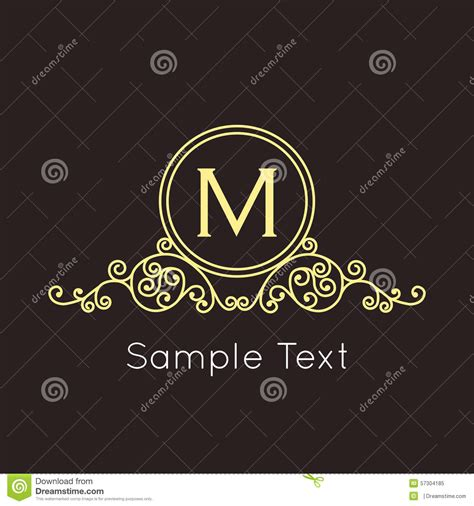deco geometric outline monogram and logo stock vector image 57304185