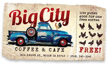There are more than 150 coffee shops scattered across boise that cater to the half a dozen universities. Big City Coffee- Linen District. My favorite quiche, scone, and coffee! http://www.bigcityboise ...