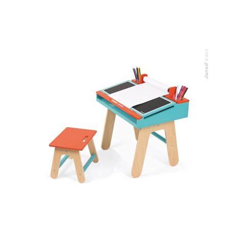 bureau et chaise d 39 écolier orange et bleu janod jouet