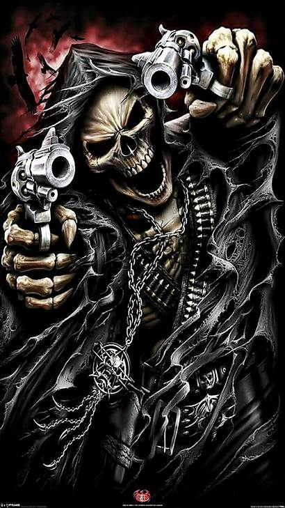 Guns Skeleton Wallpapers Skull Skulls Skeletons Scary