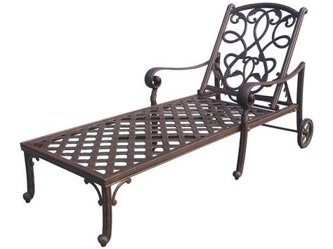 chaise metal vintage darlee outdoor living standard santa cast aluminum