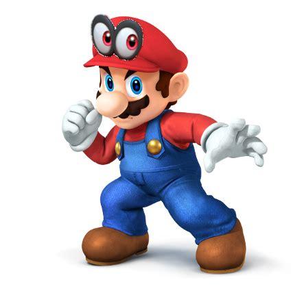 Smash Bros Melee Wallpaper Ssb4 Mario Render With Super Mario Odyssey Cap By Popculturecorn On Deviantart