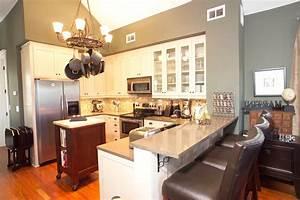 Open, Kitchen, Bar, Design, 8758