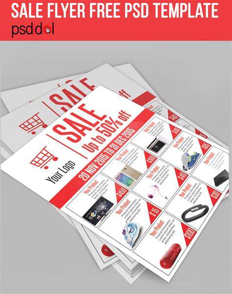 free sale flyer template sale flyer free psd template on behance