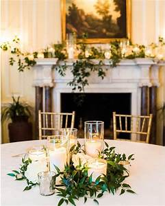 Greenery, And, Candles, Centerpieces, Mantle, Decor, Green, Bee, Floral, Designs