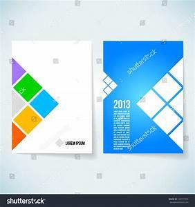 personal profile design templates - brochure cover design vector template stock vector