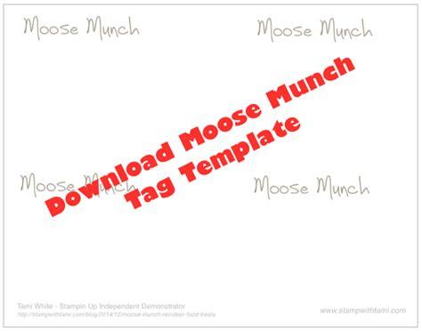 video moose munch reindeer food treats stampin