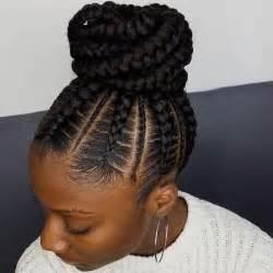Ghana Braids Cornrows Bun