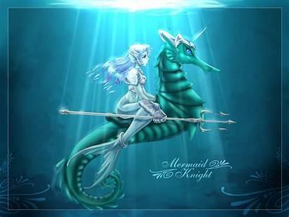 Mermaid Mermaids Seahorse Anime Wallpapers Desktop Backgrounds