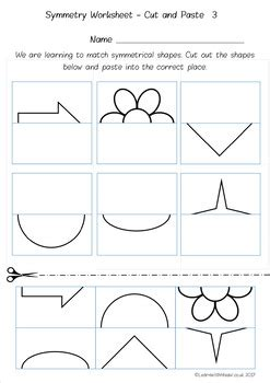symmetry worksheet pack  learn    teachers