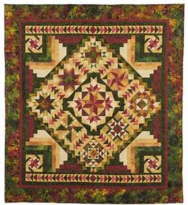 tonga back to nature batik quilt pattern by wing a