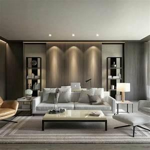 Moderne Wandspiegel Wohnzimmer : 120 wohnzimmer wandgestaltung ideen ~ Markanthonyermac.com Haus und Dekorationen