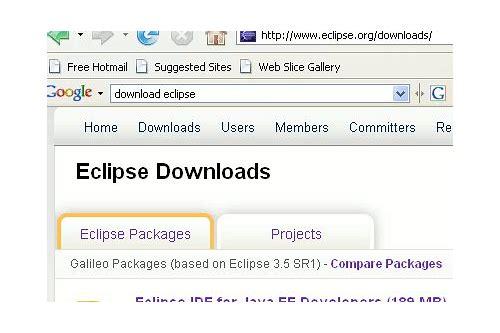 baixar do pacote eclipse java ee developers