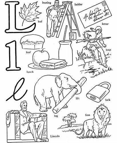 Coloring Words Pages Letter Alphabet Objects Abc